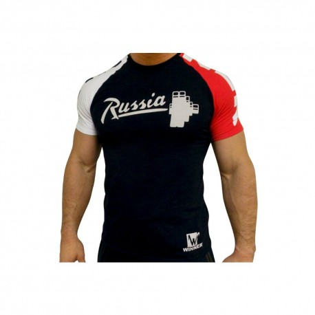 Klokov Team Winner Russia Stange Tri-Color T-Shirt