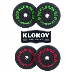 Klokov Equipment HiTemp Bumper Plates/Hantelscheiben 5-25kg -(Paar)